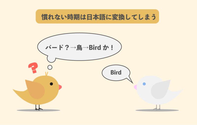 英語のリスニングは慣れない時期は日本語に変換するしてしまう