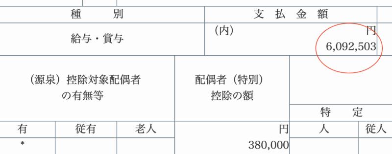 年間の給料