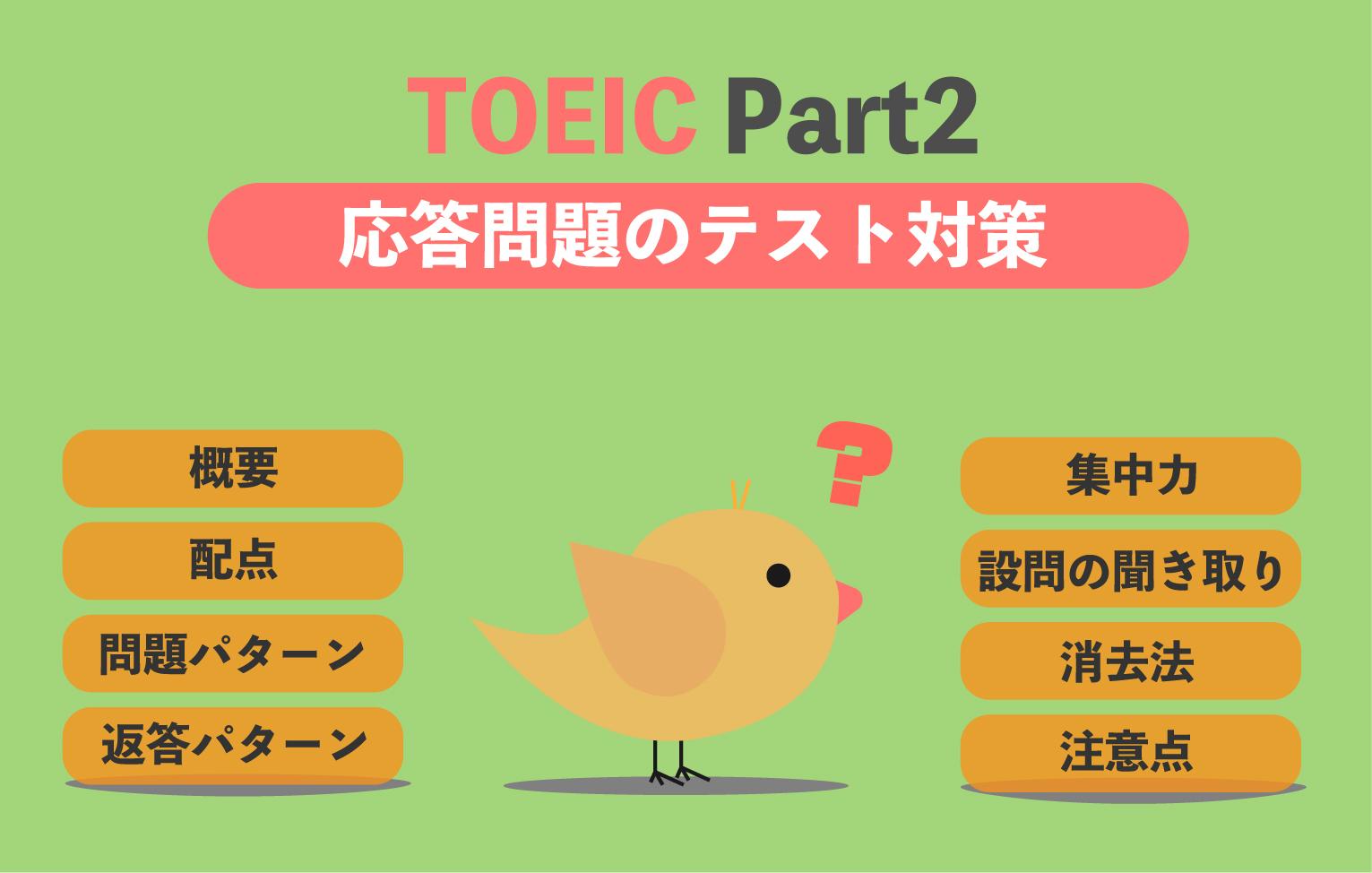 TOEIC Part2 応答問題のテスト対策と解き方のコツ