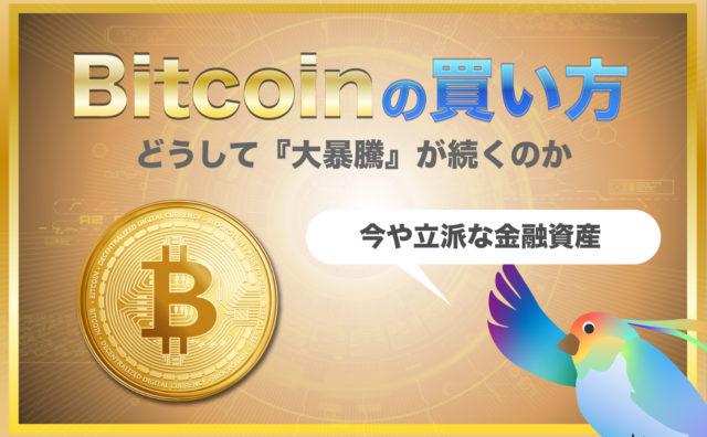 【2021】ビットコインの買い方と上昇の理由を説明します