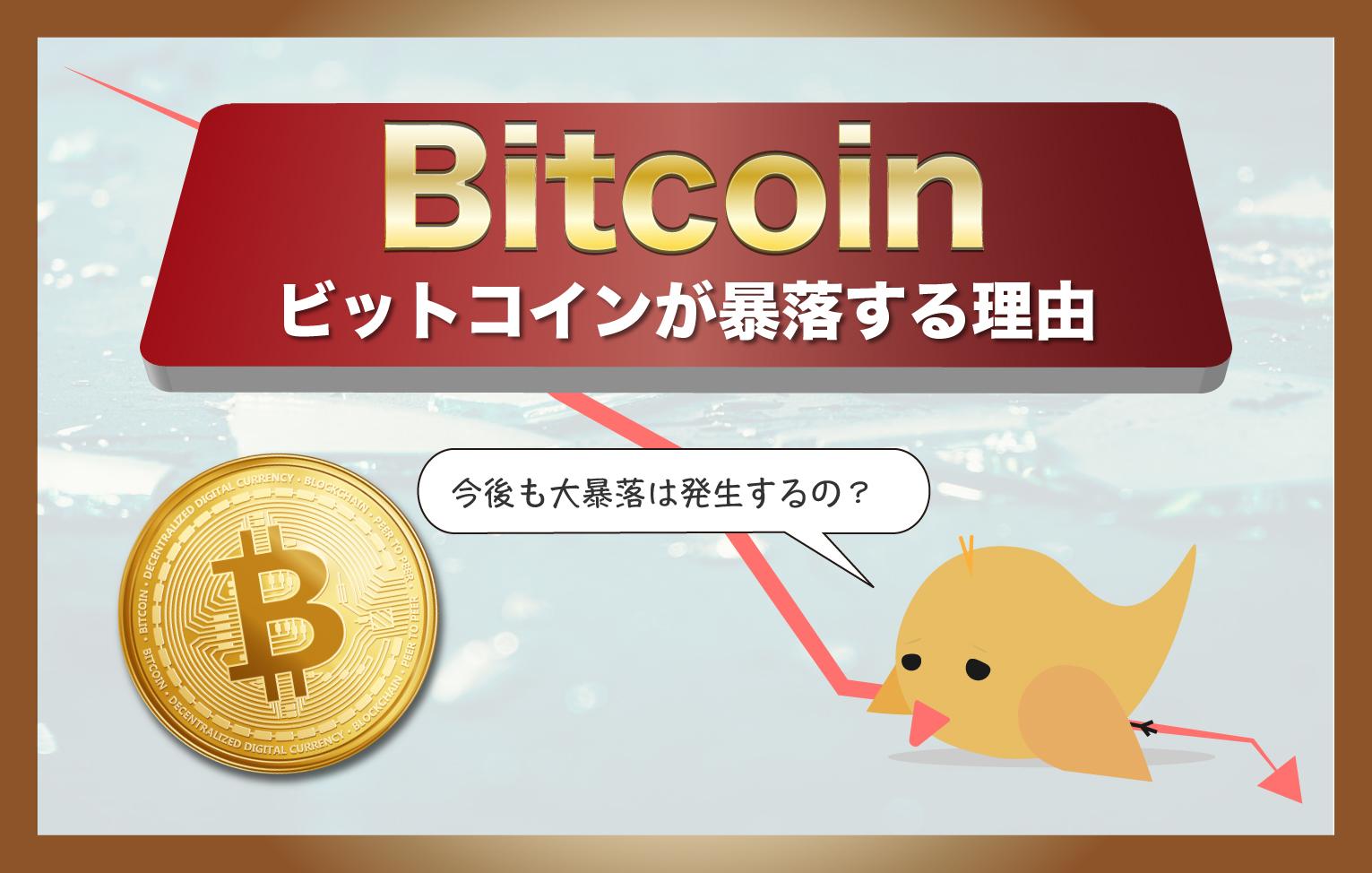 ビットコインが暴落する5つの理由【気になる今後の大暴落は?】