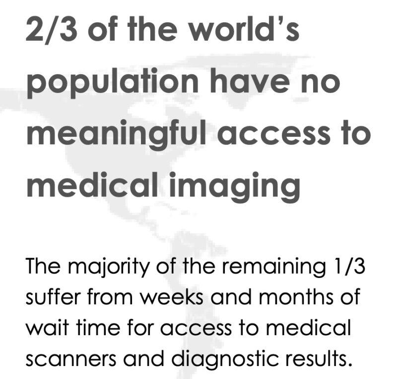 NNOX医療用画像診断装置の世界的な不足